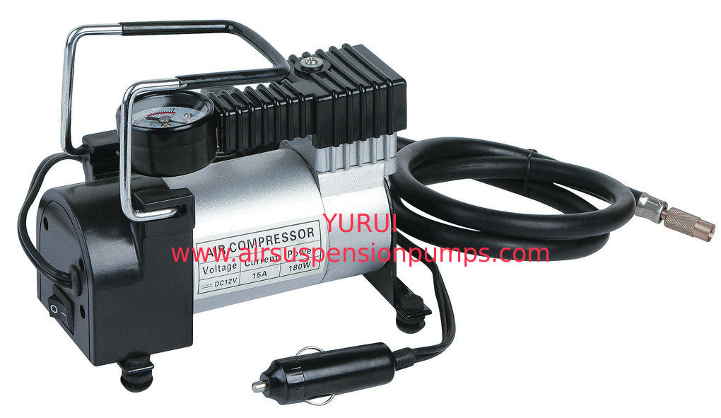 Black Silver Metal Air Compressor Fast Inflation For Cars With CE