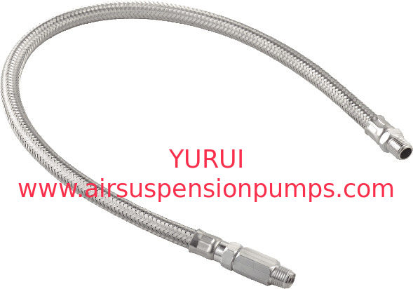 Pneumatic Accessories Air Compressor Parts Stainless Braided Hose With Check Valves
