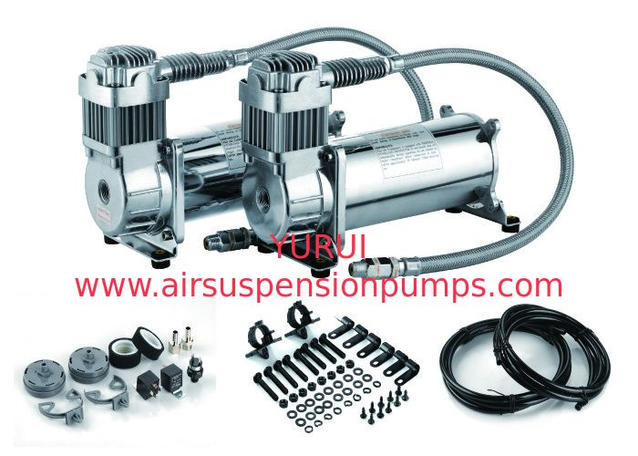 Steel And Chrome Off Road Dual Air Compressor And Car Tuning Agriculture