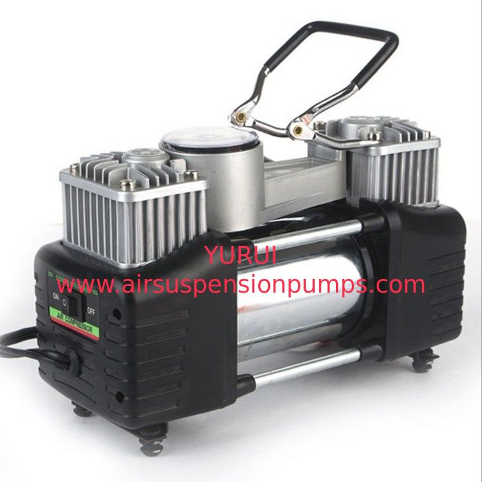 Double Cylinder Metal Air Compressor 180w 150PSI Pump with Watch