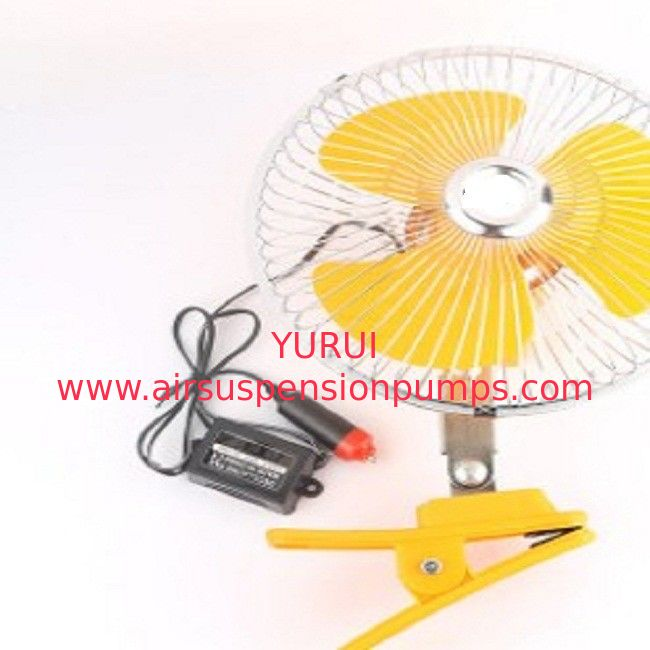 Yellow Electric Cooling Fans For Cars Back Guard With 8 Inch Oscillating